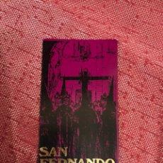Affiches de Semaine Sainte: ITINERARIO SEMANA SANTA DE SAN FERNANDO 1976. Lote 244731185