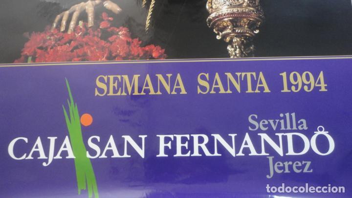 Carteles de Semana Santa: ANTIGUO CARTEL.CRISTO TRES CAIDAS.CAJA SAN FERNANDO.SEMANA SANTA SEVILLA 1994. FOTO ARENAS. 99 X 68 - Foto 3 - 245018555
