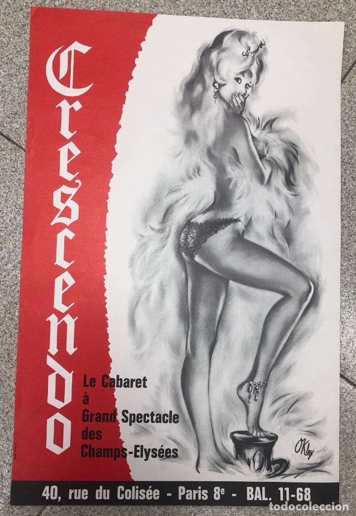 CARTEL CABARET CRESCENDO. PARIS. AÑO 1968 (Coleccionismo - Carteles Gran Formato - Carteles Semana Santa)