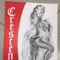 Carteles de Semana Santa: CARTEL CABARET CRESCENDO. PARIS. AÑO 1968. Lote 245031785