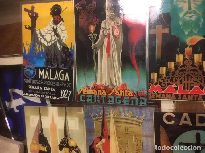 Carteles de Semana Santa: 24 reproduciones carteles semana santa tamaño postal Sevilla,Malaga,Cartagena,Cádiz. desde1927/1955 - Foto 5 - 245103415