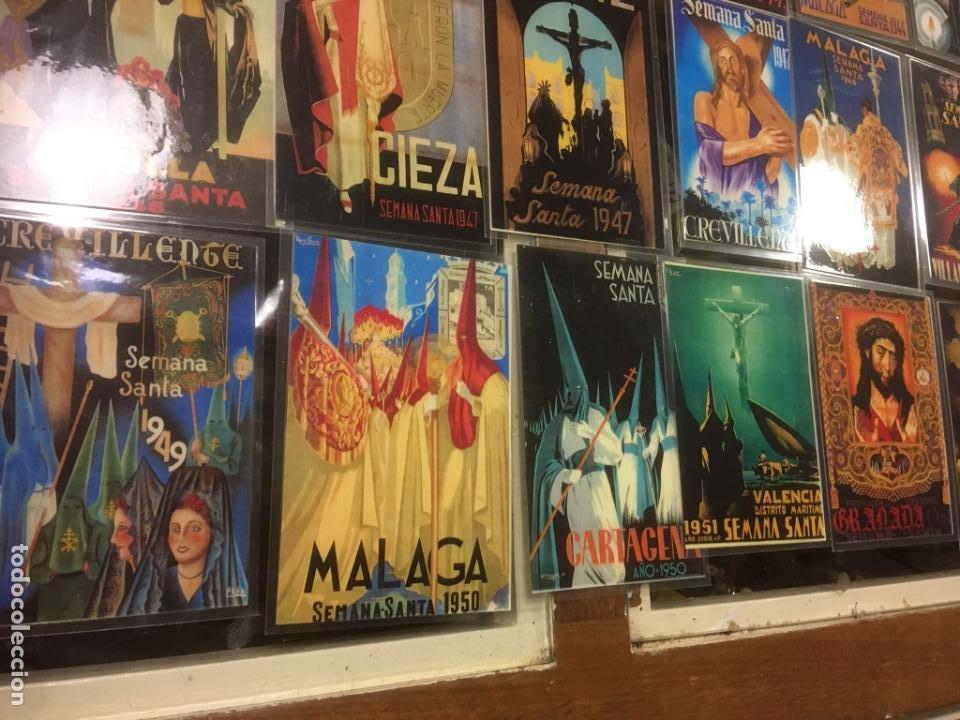 Carteles de Semana Santa: 24 reproduciones carteles semana santa tamaño postal Sevilla,Malaga,Cartagena,Cádiz. desde1927/1955 - Foto 8 - 245103415