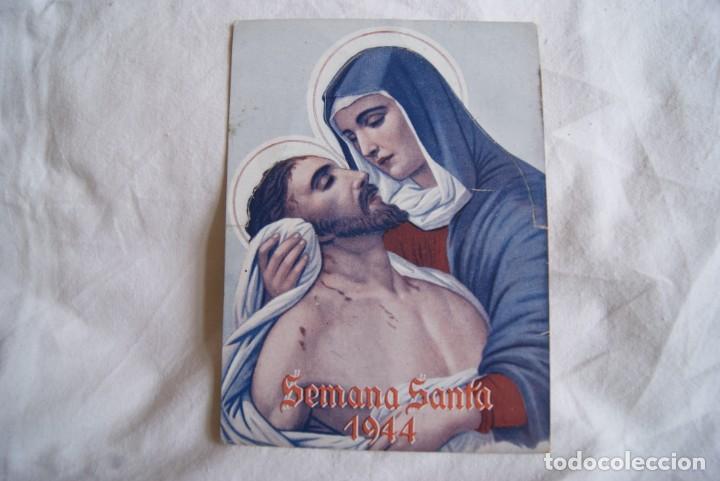 SEMANA SANTA 1944 TROQUELADO CRUZ ROJA CON SELLO (Coleccionismo - Carteles Gran Formato - Carteles Semana Santa)