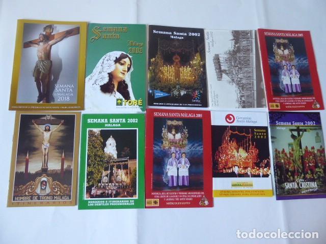 CONJUNTO DE ITINERARIOS SEMANA SANTA DE MALAGA (Coleccionismo - Carteles Gran Formato - Carteles Semana Santa)