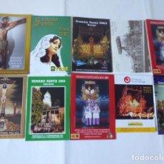 Carteles de Semana Santa: CONJUNTO DE ITINERARIOS SEMANA SANTA DE MALAGA. Lote 247489785