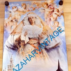 Carteles de Semana Santa: SEMANA SANTA SEVILLA, 2004, CARTEL CORONACION VIRGEN DEL ROSARIO DE MONTESION, 46X80 CMS. Lote 250222480