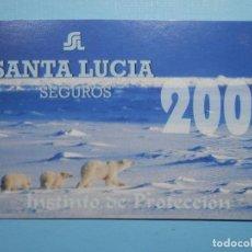 Carteles de Semana Santa: CALENDARIO DE BOLSILLO - SANTA LUCIA - SEGUROS - AÑO 2001. Lote 255598600