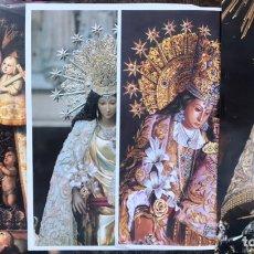 Carteles de Semana Santa: LOTE 4 ESTAMPAS GRAN TAMAÑO LEVANTE EL MERCANTIL VIRGEN DE LOS DESAMPARADOS VALENCIA POSTER CARTELES. Lote 256082705