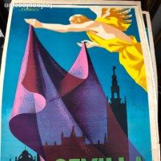 Carteles de Semana Santa: CARTEL ORIGINAL SEMANA SANTA DE SEVILLA AÑO 1965 - MEDIDA 68X46 CM - RELIGIOSO. Lote 263167085