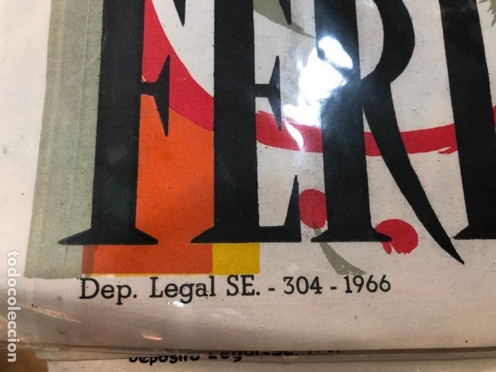 Carteles de Semana Santa: CARTEL ORIGINAL FERIA DE SEVILLA AÑO 1967 - MEDIDA 68X46 CM - RELIGIOSO - Foto 2 - 263167620