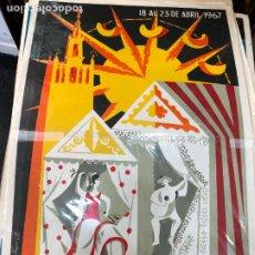 Carteles de Semana Santa: CARTEL ORIGINAL FERIA DE SEVILLA AÑO 1967 - MEDIDA 68X46 CM - RELIGIOSO. Lote 263167620