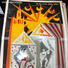 Carteles de Semana Santa: CARTEL ORIGINAL FERIA DE SEVILLA AÑO 1967 - MEDIDA 68X46 CM - RELIGIOSO. Lote 263167695