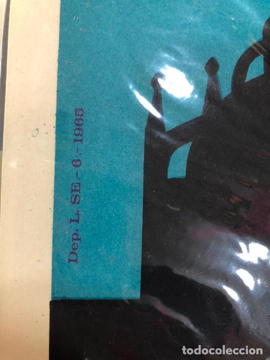 Carteles de Semana Santa: CARTEL ORIGINAL SEMANA SANTA DE SEVILLA AÑO 1965 - MEDIDA 68X46 CM - RELIGIOSO - Foto 2 - 263167885