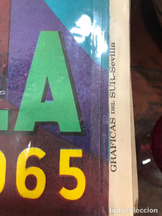 Carteles de Semana Santa: CARTEL ORIGINAL SEMANA SANTA DE SEVILLA AÑO 1965 - MEDIDA 68X46 CM - RELIGIOSO - Foto 3 - 263167885