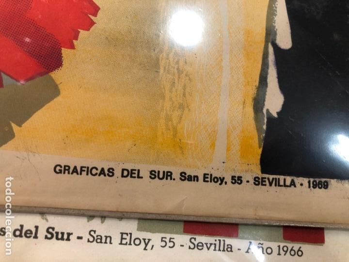 Carteles de Semana Santa: CARTEL ORIGINAL SEMANA SANTA DE SEVILLA AÑO 1969 - MEDIDA 68X46 CM - RELIGIOSO - Foto 2 - 263168260
