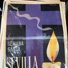 Carteles de Semana Santa: CARTEL ORIGINAL SEMANA SANTA DE SEVILLA AÑO 1969 - MEDIDA 68X46 CM - RELIGIOSO. Lote 263168875