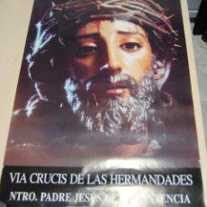 Carteles de Semana Santa: ESPECTACULAR CARTEL DE LA SEMANA SANTA DE SEVILLA, NTRO.PADRE JESUS DE LA SENTENCIA 1997,. Lote 266587643