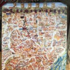 Carteles de Semana Santa: SEMANA SANTA ZAMORA 1992 ITINERARIOS 90X63. Lote 268756414