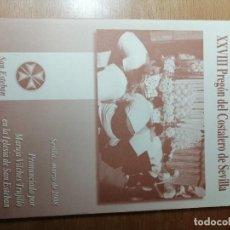 Carteles de Semana Santa: PREGÓN COSTALERO SEVILLA 2008. SEMANA SANTA. Lote 289787643