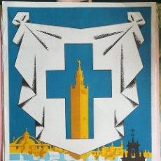 Carteles de Semana Santa: ANTIGUO CARTEL ,FERIA DE SEVILLA , SEMANA SANTA 1963. Lote 292240228