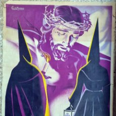 Carteles de Semana Santa: CARTEL PUBLICIDAD SEMANA SANTA ORIHUELA 1957 PERIS MORENO LITOGRAFIA ORIGINAL. Lote 293214863