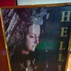 Carteles de Semana Santa: ENORME CARTEL ENMARCADO SEMANA SANTA DE HELLIN 1992 CIUDAD DEL TAMBOR. Lote 296014693