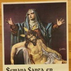 Carteles de Semana Santa: SEMANA SANTA VALLADOLID. ABRIL 1957.. Lote 297062528
