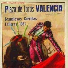Carteles Toros: CARTEL TOROS VALENCIA 1981. Lote 25048483