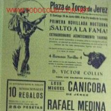 Carteles Toros: CARTEL DE TORO DE PLAZA DE TOROS DE JEREZ, 26 DE JUNIO DE 1966.. Lote 5247428