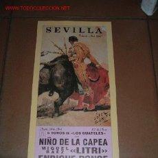 Carteles Toros: CARTEL DE TORO - FERIA DE ABRIL 1992 - SEVILLA. Lote 6219743