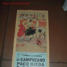 Carteles Toros: CARTEL DE TORO - FERIA DE ABRIL 1992 - SEVILLA. Lote 6219757