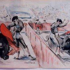 Carteles Toros: CARTEL PLAZA PARTIDA AÑOS 20 , ILUSTRADO POR RUANO LLOPIS, LITOGRAFIA,. Lote 122476275