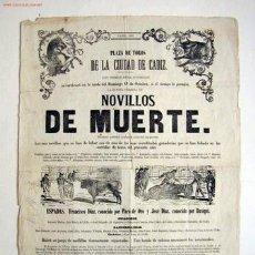 Carteles Toros: CARTEL DE TOROS. SIGLO XIX. Lote 27063344