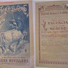 Carteles Toros: CARTEL TOROS SANTA EUGENIA (GERONA) AÑO 1905. Lote 27530165
