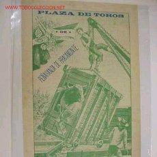 Carteles Toros: CARTEL TOROS PEÑARANDA DE BRACAMONTE (SALAMANCA) AÑO 1909. Lote 27390683
