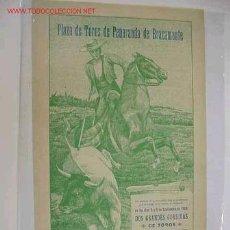 Carteles Toros: CARTEL TOROS PEÑARANDA DE BRACAMONTE (SALAMANCA) AÑO 1909. Lote 27390681