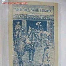 Carteles Toros: CARTEL TOROS PEÑARANDA DE BRACAMONTE (SALAMANCA) AÑO 1909. Lote 27508582