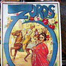 Carteles Toros: CARTEL GRANDE DE TOROS LITOGRAFICO DE RUANO LLOPIS, VALENCIA, MADRID, BARCELONA, SEVILLA Y GRANADA. Lote 31010757