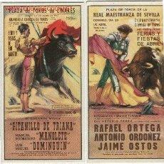 Carteles Toros: VENTE Y CUATRO REPRODUCIONES DE CARTELES DE TOROS FORMATO DE 22 -11 CM. Lote 23700777