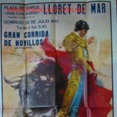 Carteles Toros: CARTEL PLAZA DE TOROS DE TOROS DE VINAROZ, 25 MAYO 1969. EN LA FOTO OTRA PLAZA Y OTRA TERNA.. Lote 23165650