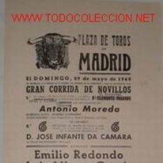 Carteles Toros: CARTEL PLAZA DE TOROS DE MADRID 29 MAYO 1960. Lote 11145965