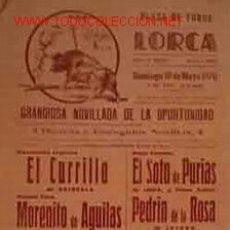 Affiches Tauromachie: CARTEL PLAZA DE TOROS DE LORCA, 10 DE MAYO 1970. Lote 48772678