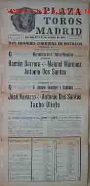 CARTEL PLAZA DE TOROS DE MADRID: 12 Y 14 OCTUBRE 1951 (Coleccionismo - Carteles Gran Formato - Carteles Toros)