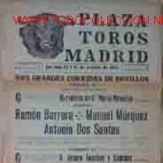 Carteles Toros: CARTEL PLAZA DE TOROS DE MADRID: 12 Y 14 OCTUBRE 1951. Lote 18199699