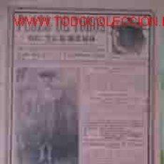 Affissi Tauromachia: CARTEL PLAZA DE TOROS DE TURMERO, 2, 3, 4 Y 5 DE FEBRERO DE 1915. Lote 21293907