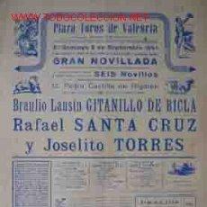 Carteles Toros: CARTEL PLAZA DE TOROS DE VALENCIA 2 SEPTIEMBRE 1951. Lote 22619760