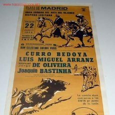 Carteles Toros: ANTIGUO CARTEL DE TOROS - PLAZA DE MADRID - CORRIDA DE 22 DE JUNIO DE 1985. Lote 706382
