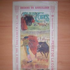 Affissi Tauromachia: CARTEL DE TOROS DE BARCELONA 1916 (ALTERNATIVA DE JUAN SILVETI (BELMONTE MEJICANO)RARO. Lote 25118126