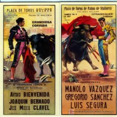 Carteles Toros: PLAZAS DE TOROS Nº 15 Y Nº 18 . Lote 4756048
