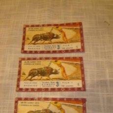 Carteles Toros: 3 ENTRADAS DE TOROS AÑO 1973. Lote 4914209